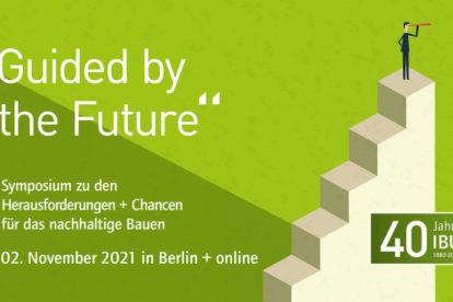 Key-visual zum IBU-Symposium zum Bauen von morgen