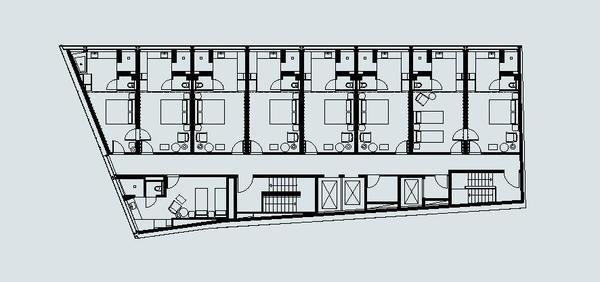 Grundriss Hotelfoyer : Die casa camper« in berlin bad mit aussicht db