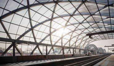 """U-Bahnhaltestelle_Elbbrücken,_Hamburg__Realisierungswettbewerb,_Einladungswettbewerb_2012_-_1._Preis_(2013)__U-Bahnhaltestelle_der_U4_an_den_Elbbrücken_mit_Anbindung_an_die_S-Bahnhaltestelle.__Das_Quartier_""""Elbbrücken""""_wird_den_östlichen_Abschluss_der_Haf"""