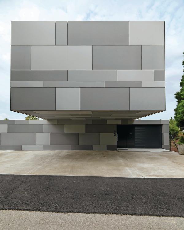 fassadengestaltung mit faserzementplatten. Black Bedroom Furniture Sets. Home Design Ideas