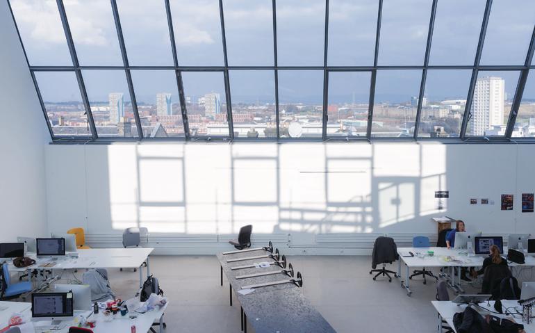 erweiterungsgeb ude der kunsthochschule reid building in. Black Bedroom Furniture Sets. Home Design Ideas