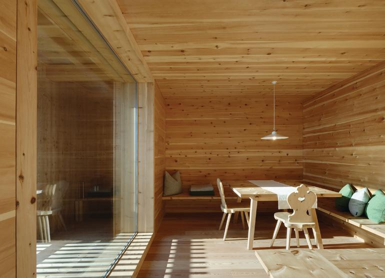 Ferienhaus oberpertinger h usl in terenten i modern for Modernes haus gezeichnet