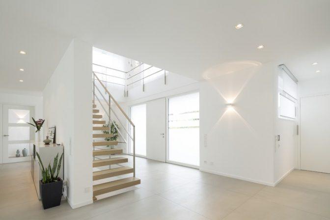 neubau eines einfamilienhauses in recklinghausen innen und aussen weiss db deutsche bauzeitung. Black Bedroom Furniture Sets. Home Design Ideas