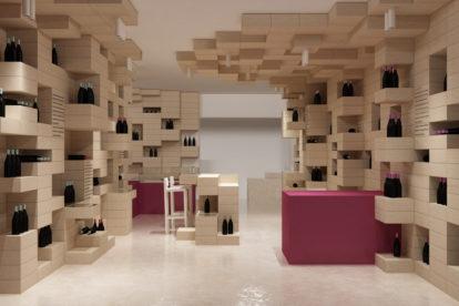 Verkaufsraum für Wein