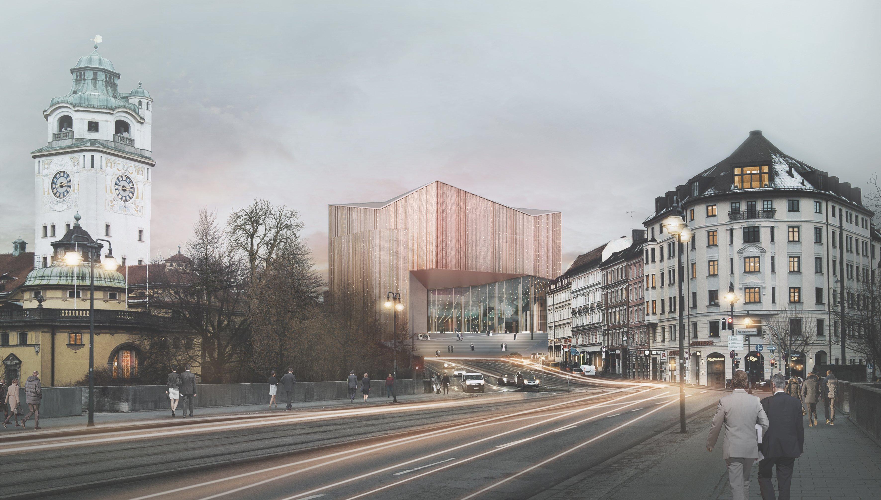 Gasteig München, Entwurf Auer Weber Assoziierte