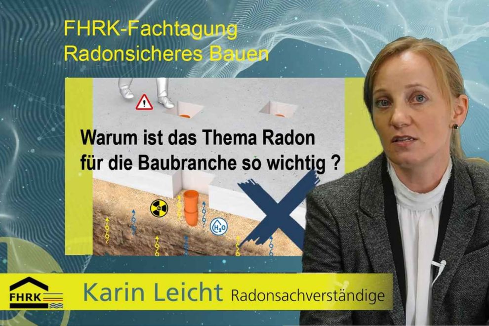 Vortrag von Karin Leicht zum Thema radonsicheres Bauen