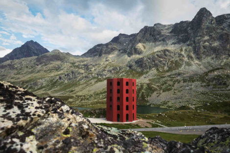 Roter Turm auf dem Julierpass
