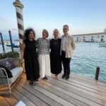 Odile Decq, Dr. Ursula Schwitalla, Christiane Fath und Dirk Boll in Venedig