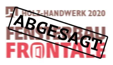 Logo Fensterbau Frontale und Holz-Handwerk Absage