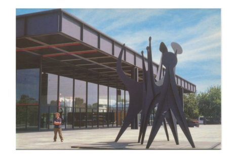 Postkarte mit Blick auf die Neue Nationalgalerie Berlin