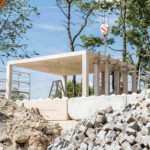 Muster-Pavillon aus Recycling-Beton in München