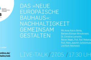 Live-Talk Neues europäisches Bauhaus