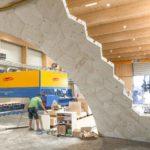 Holz-Pavillon in der Bauphase