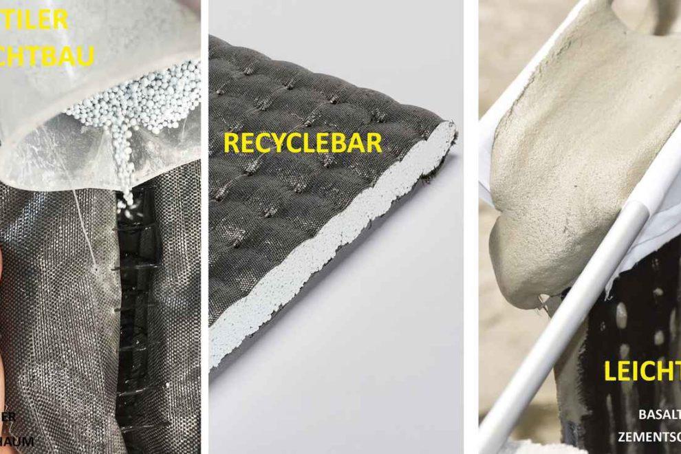 Verbundmaterialien aus Textilien und Schäumen für Dach und Fassade