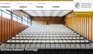 Screenshot TUD Architekturvorträge