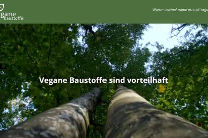 Webseite vegane-baustoffe.org über verganen Außen- und Innenputz