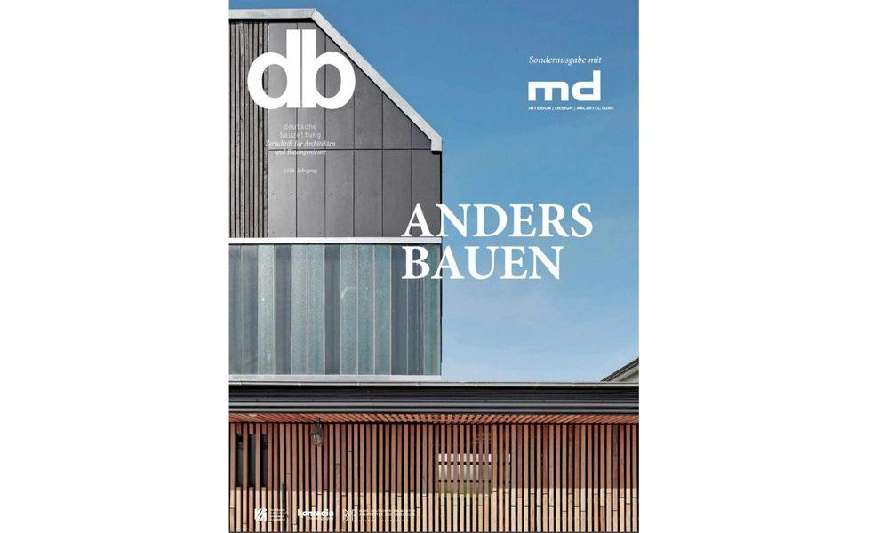Titelbild der db deutsche bauzeitung Ausgabe 7.2021