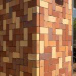 Pflasterklinker an der Fassade