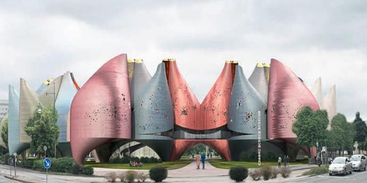 Wettbewerb Bauhaus Museum Dessau – ein erster Preis: Young & Ayata, New York / Landschaftsarchitekt: Misako Murata, New York