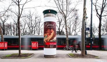 V. a. kulturelle Einrichtungen nutzen Litfaßsäulen heute gerne als Werbeplattform, da die Preise im Vergleich zu anderen Medien moderat sind. (Bild: Gewista, Wien)
