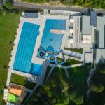 Luftbild des Freibads Sigmaringen
