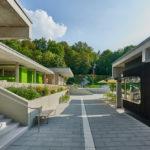 Kiosk und Umkleiden im Schwimmbad Sigmaringen