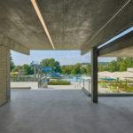 Freibad Sigmaringen: Blick vom Eingang zu den Becken