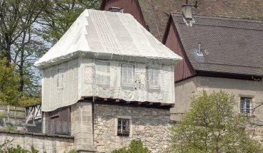 Gartenschau im Remstal: Gehäkelte Hülle von Hild und K