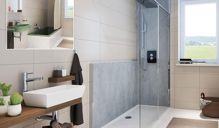 teilsanierung mit renoconcept von hsk flotte dusche db deutsche bauzeitung. Black Bedroom Furniture Sets. Home Design Ideas