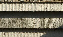 Profilierte Oberfläche von Eisenbeton