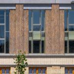 Fassadendetail des Business Centers Givaudan des Architekturbüros Ernst Niklaus Fausch Partner