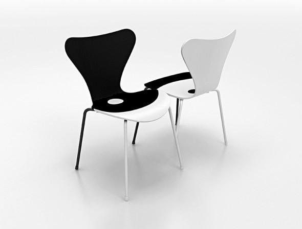 arne jacobsens stuhl neu interpretiert 7 mal 7 db deutsche bauzeitung. Black Bedroom Furniture Sets. Home Design Ideas