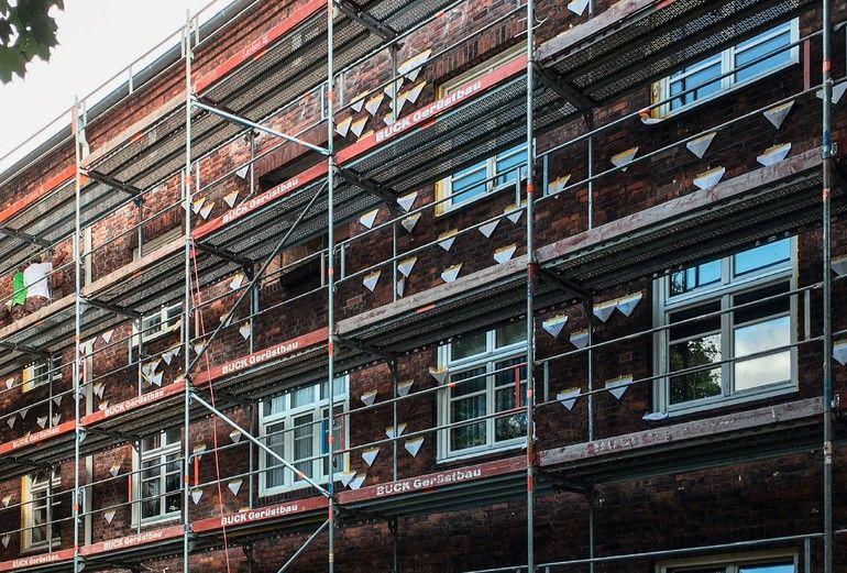 Hohlraumdämmung bei den Reichardtblöcken in Hamburg