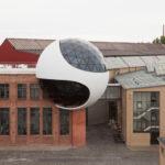 Außenansicht der Niemeyer-Sphere