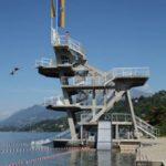 Turm am Wasser als gelungener Sportbau.