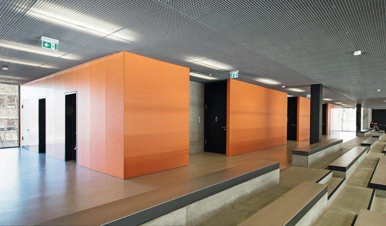 Fermacell design grundschule dresden for Innenraumdesign studium